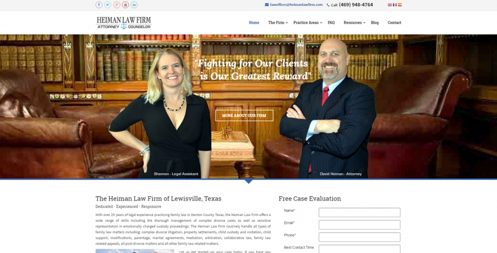 Heiman Law Firm - New Website