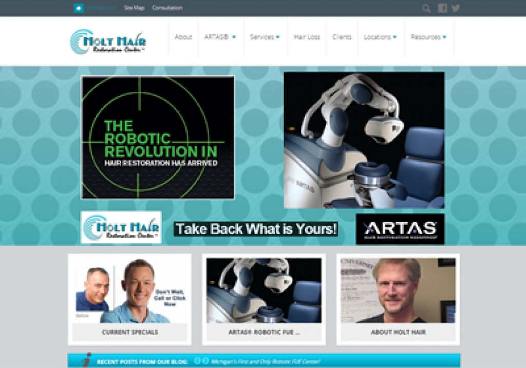 Holt Hair Restoration Center- New Website