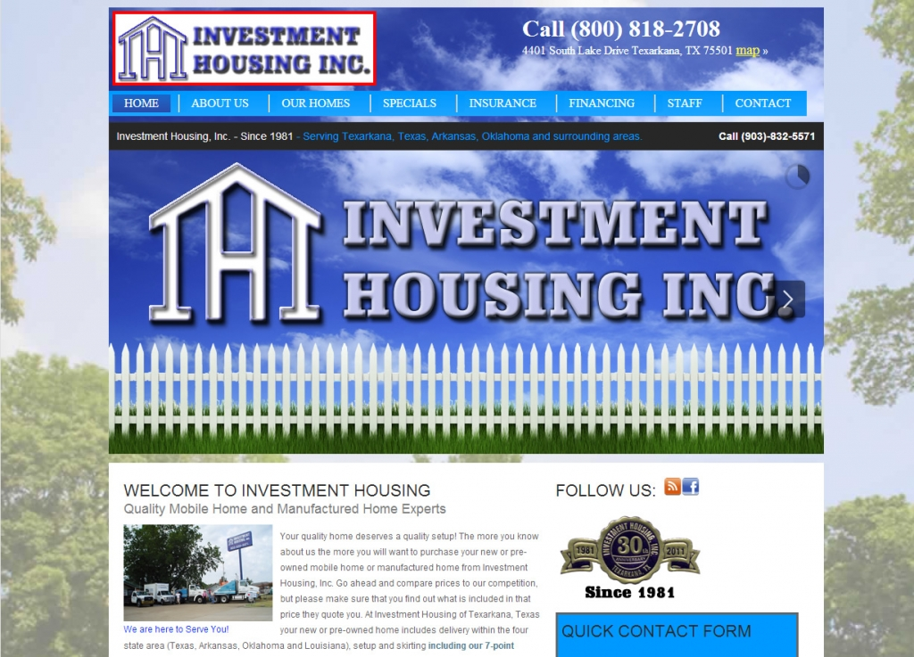 Investment Housing- New Website