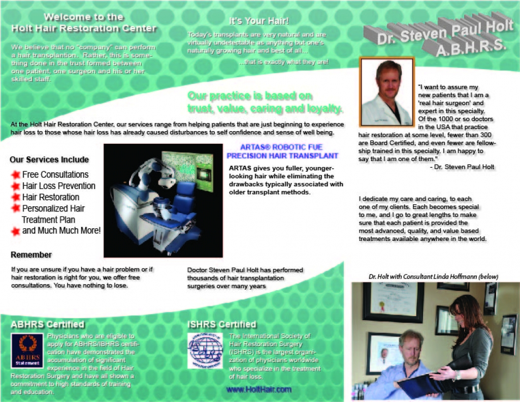 Holt Hair Restoration Center - Brochure