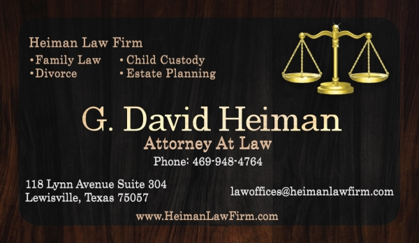 Heiman Law Firm - Business Card
